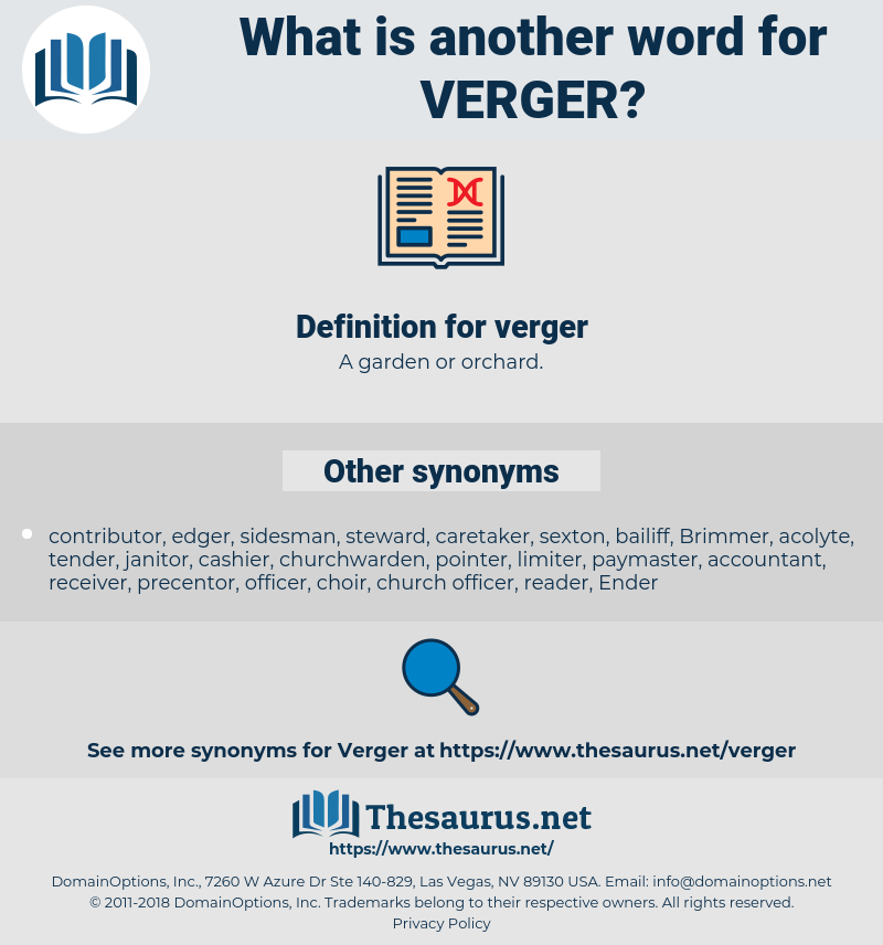 verger, synonym verger, another word for verger, words like verger, thesaurus verger