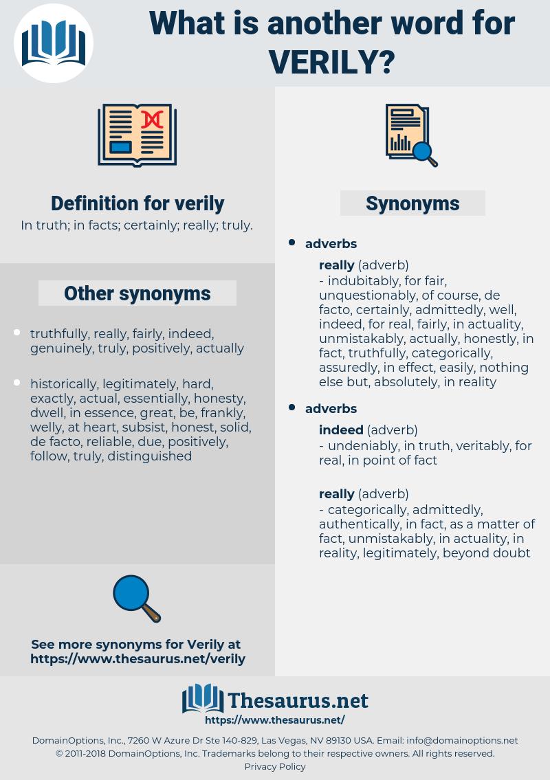 verily, synonym verily, another word for verily, words like verily, thesaurus verily