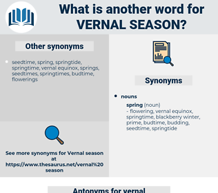 vernal season, synonym vernal season, another word for vernal season, words like vernal season, thesaurus vernal season