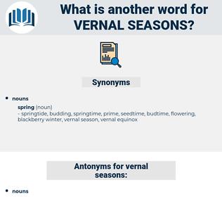 vernal seasons, synonym vernal seasons, another word for vernal seasons, words like vernal seasons, thesaurus vernal seasons