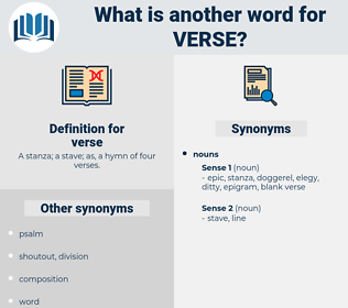 verse, synonym verse, another word for verse, words like verse, thesaurus verse