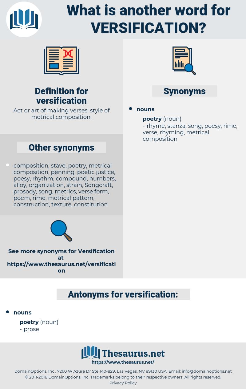 versification, synonym versification, another word for versification, words like versification, thesaurus versification