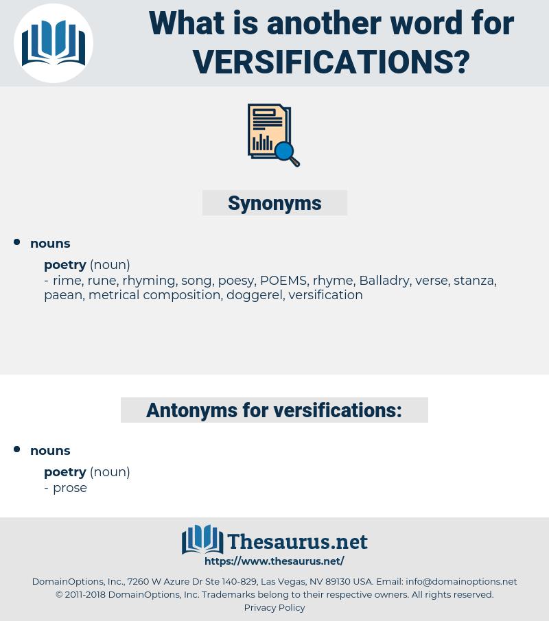 versifications, synonym versifications, another word for versifications, words like versifications, thesaurus versifications
