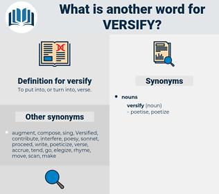 versify, synonym versify, another word for versify, words like versify, thesaurus versify