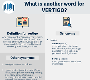 vertigo, synonym vertigo, another word for vertigo, words like vertigo, thesaurus vertigo