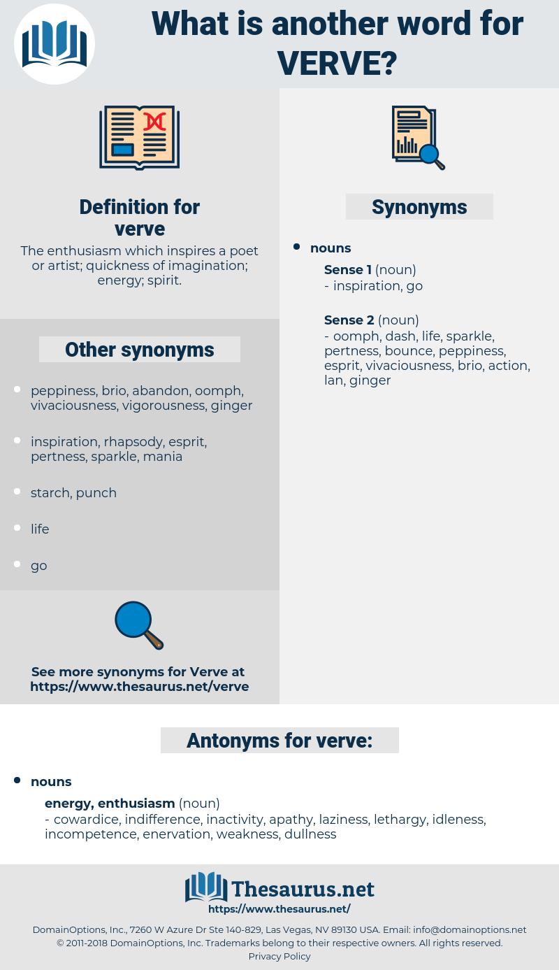 verve, synonym verve, another word for verve, words like verve, thesaurus verve