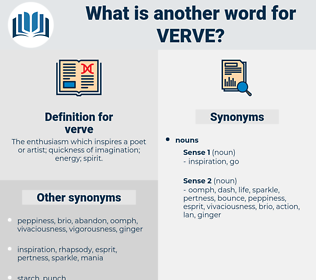 verve, synonym verve, another word for verve, words like verve, thesaurus verve