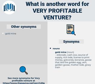 very profitable venture, synonym very profitable venture, another word for very profitable venture, words like very profitable venture, thesaurus very profitable venture