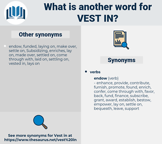 vest in, synonym vest in, another word for vest in, words like vest in, thesaurus vest in