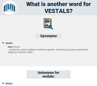vestals, synonym vestals, another word for vestals, words like vestals, thesaurus vestals