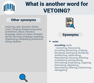 Vetoing, synonym Vetoing, another word for Vetoing, words like Vetoing, thesaurus Vetoing