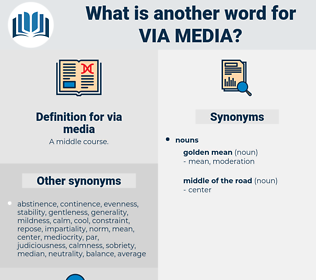 via media, synonym via media, another word for via media, words like via media, thesaurus via media
