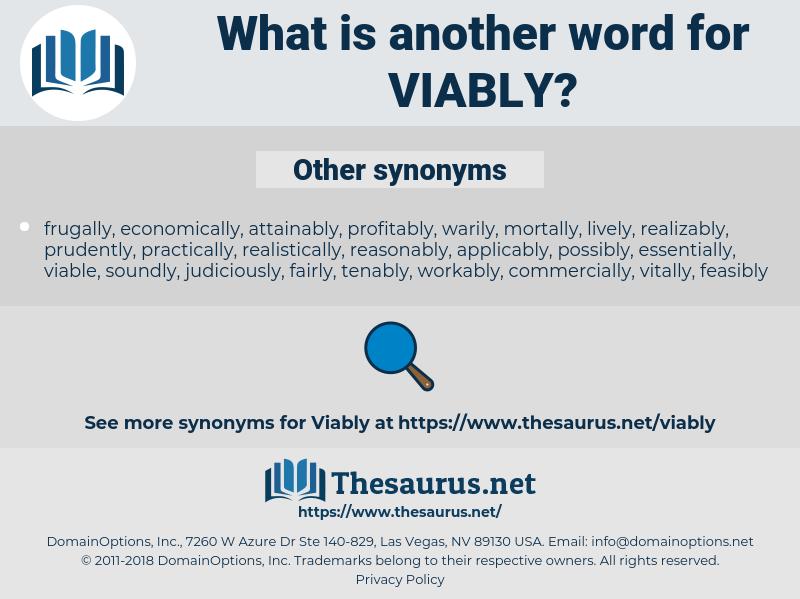 viably, synonym viably, another word for viably, words like viably, thesaurus viably
