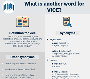 vice, synonym vice, another word for vice, words like vice, thesaurus vice