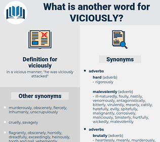 viciously, synonym viciously, another word for viciously, words like viciously, thesaurus viciously