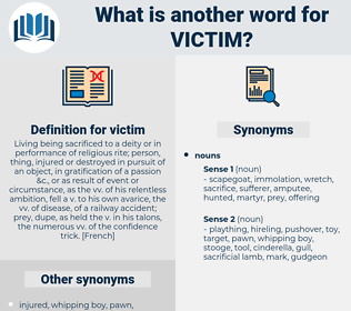 victim, synonym victim, another word for victim, words like victim, thesaurus victim