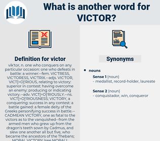 victor, synonym victor, another word for victor, words like victor, thesaurus victor