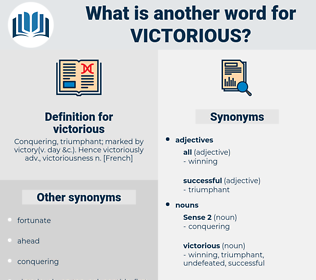 victorious, synonym victorious, another word for victorious, words like victorious, thesaurus victorious