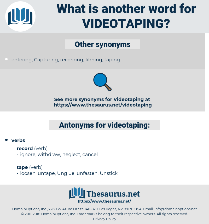 videotaping, synonym videotaping, another word for videotaping, words like videotaping, thesaurus videotaping