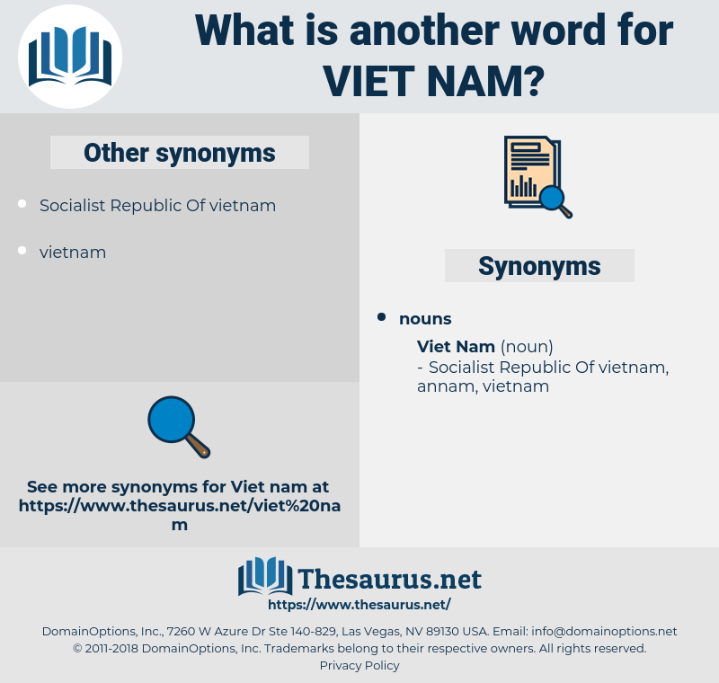 Viet Nam, synonym Viet Nam, another word for Viet Nam, words like Viet Nam, thesaurus Viet Nam