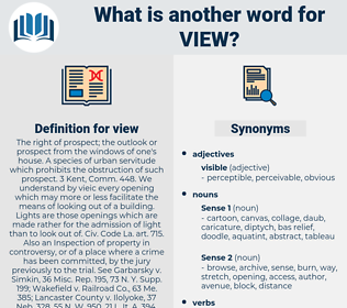 view, synonym view, another word for view, words like view, thesaurus view