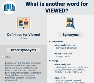 Viewed, synonym Viewed, another word for Viewed, words like Viewed, thesaurus Viewed