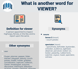 viewer, synonym viewer, another word for viewer, words like viewer, thesaurus viewer