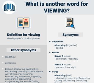 viewing, synonym viewing, another word for viewing, words like viewing, thesaurus viewing