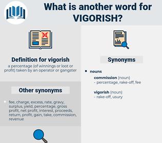 vigorish, synonym vigorish, another word for vigorish, words like vigorish, thesaurus vigorish