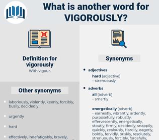 vigorously, synonym vigorously, another word for vigorously, words like vigorously, thesaurus vigorously