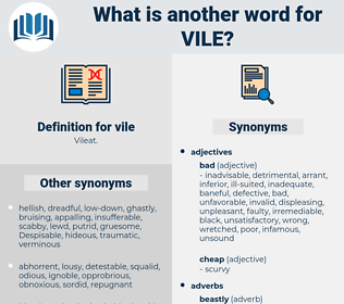 vile, synonym vile, another word for vile, words like vile, thesaurus vile