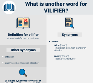 vilifier, synonym vilifier, another word for vilifier, words like vilifier, thesaurus vilifier