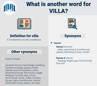 villa, synonym villa, another word for villa, words like villa, thesaurus villa
