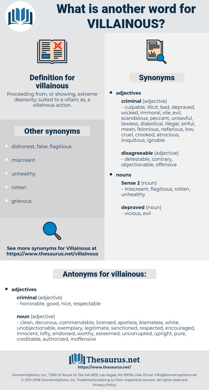 villainous, synonym villainous, another word for villainous, words like villainous, thesaurus villainous