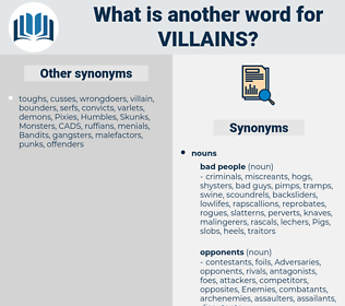 villains, synonym villains, another word for villains, words like villains, thesaurus villains