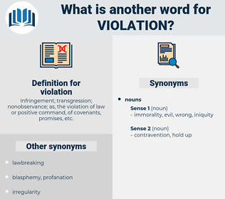 violation, synonym violation, another word for violation, words like violation, thesaurus violation