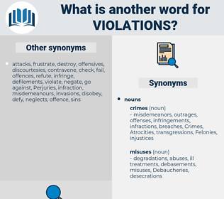 violations, synonym violations, another word for violations, words like violations, thesaurus violations
