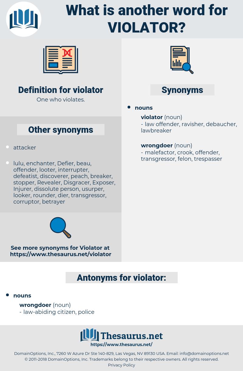 violator, synonym violator, another word for violator, words like violator, thesaurus violator