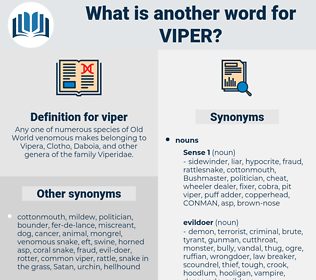 viper, synonym viper, another word for viper, words like viper, thesaurus viper