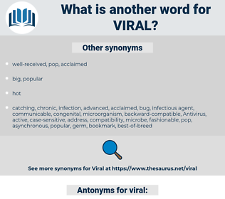 viral, synonym viral, another word for viral, words like viral, thesaurus viral