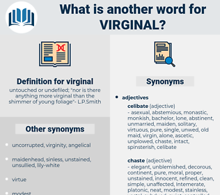 virginal, synonym virginal, another word for virginal, words like virginal, thesaurus virginal