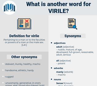 virile, synonym virile, another word for virile, words like virile, thesaurus virile