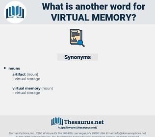 virtual memory, synonym virtual memory, another word for virtual memory, words like virtual memory, thesaurus virtual memory