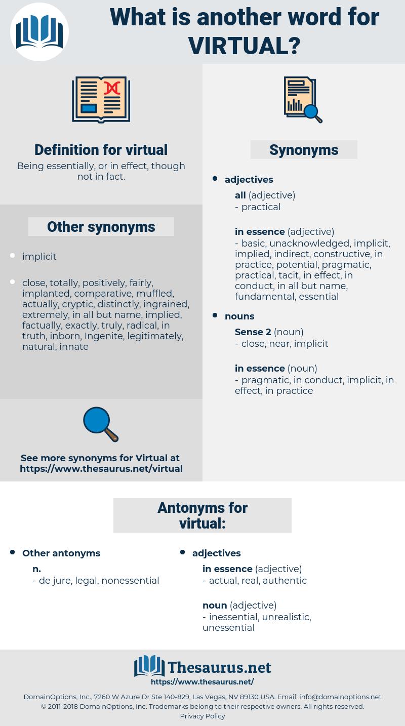 virtual, synonym virtual, another word for virtual, words like virtual, thesaurus virtual