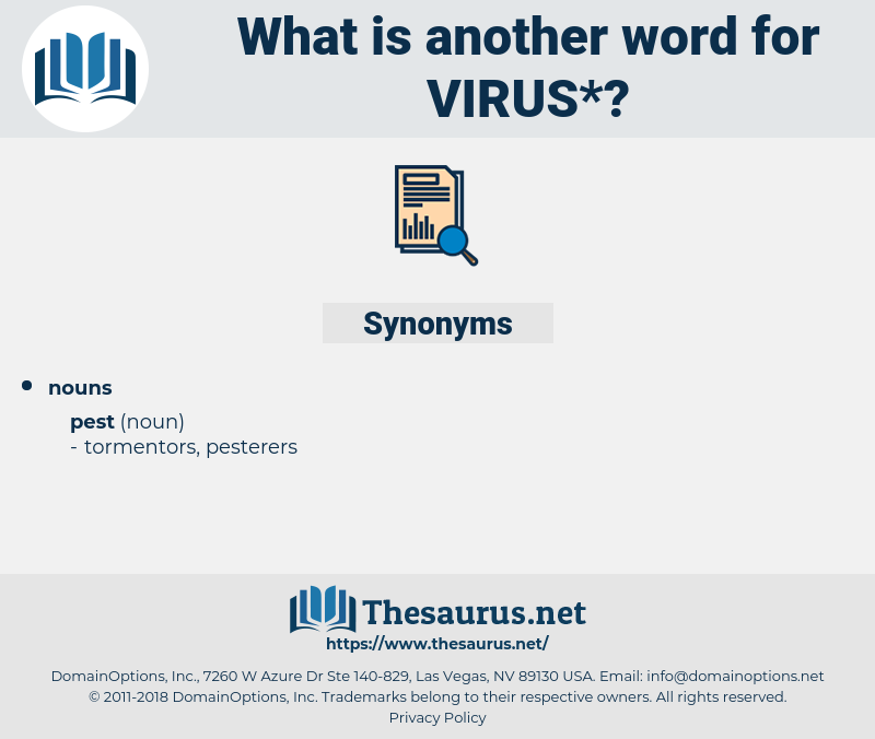 virus, synonym virus, another word for virus, words like virus, thesaurus virus