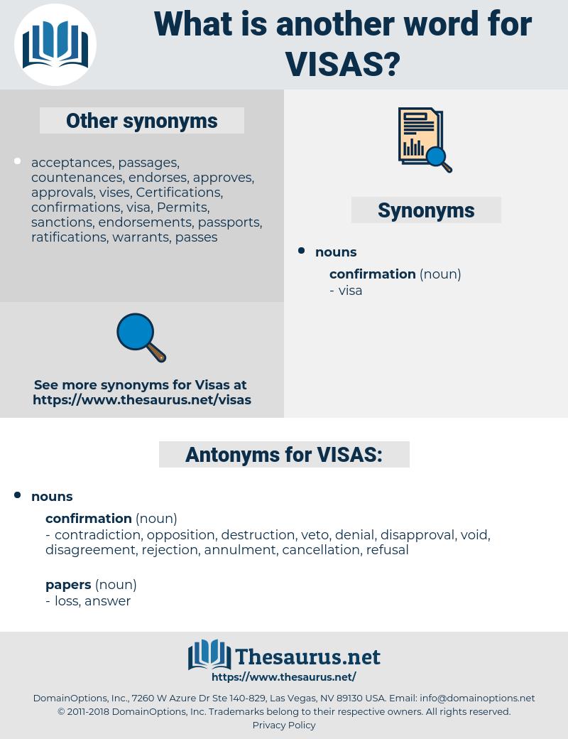VISAS, synonym VISAS, another word for VISAS, words like VISAS, thesaurus VISAS