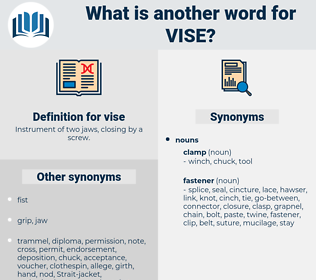 vise, synonym vise, another word for vise, words like vise, thesaurus vise
