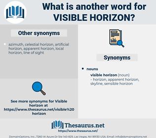 visible horizon, synonym visible horizon, another word for visible horizon, words like visible horizon, thesaurus visible horizon