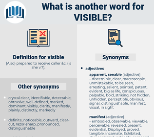visible, synonym visible, another word for visible, words like visible, thesaurus visible