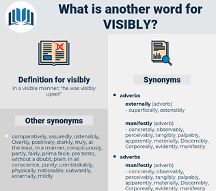 visibly, synonym visibly, another word for visibly, words like visibly, thesaurus visibly
